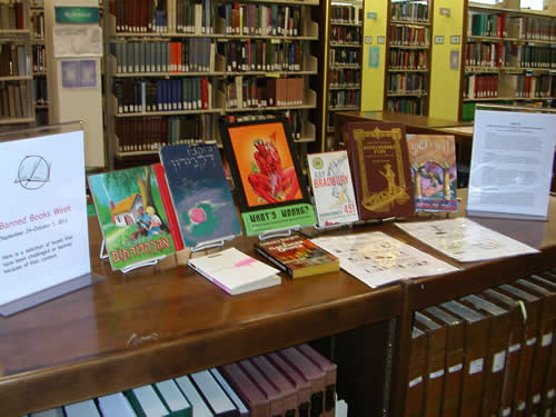 Exhibit for Banned Books Week